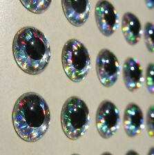 Silver Holographic Epoxy Eyes Fly Tying Lures Crafts-Lot of 900