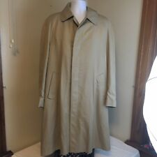 VTG Aquascutum Trench Coat Rain Jacket Light Brown Zip Out Liner 46R XL UK Made