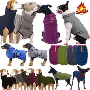 Pet Puppy Cat Dog Fleece Jumper Vest Warmer Coats Jackets Winter Apparel Clothes