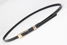 Fashion Women Lady Girl Skinny Waist Belt Thin Leather Narrow Waistband