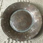 """Antique Armenian Copper Bowl Plate 11.5"""" Hand Hammered Middle Eastern Turkish"""