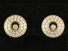 Exklusive Chopard Brillant Ohr Stecker Happy Diamonds 1,35ct     750/- Gelbgold