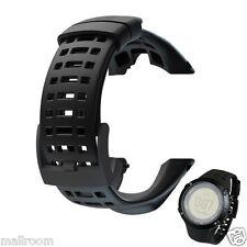 Luxus Gummi Ersatz Armband Uhrenarmband Für Suunto Ambit 3 Peak/Ambit 2 Schwarz