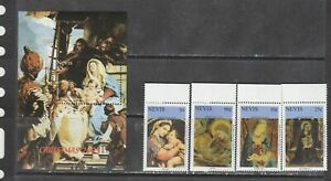 Nevis 2005 paintings art Raphael set + s/s MNH