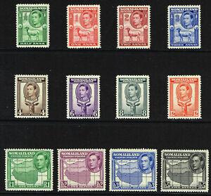 SOMALILAND PROTECTORATE 1938 KG VI SET VERY FINE LIGHTLY MM SG 93 - 104