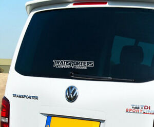 Transporters Campers in Disguise Sticker Decal Camper Van T2 T4 T5 28cm x 5.1cm