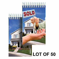 """Spiral Notebook Real Estate House Sale Lenticular 2x4"""" LOT OF 50#NBM-971-50#"""