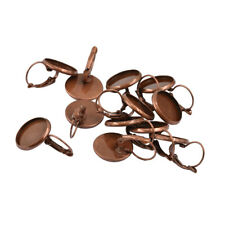 12pcs Earring Wire Hook Findings Cabochon Setting Base Jewelry Red copper