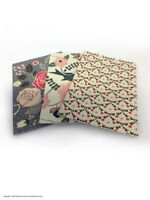 A6 Notepad Notebook Pocket Journal 28 Blank Pages Multi Pack Of 3 Flowers Birds