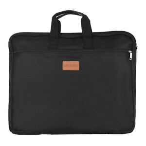 Portable Canvas Document Folder Business File Organiser Office Storage Case Bag