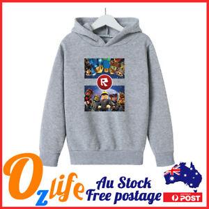 *WARM* Roblox Hoodie Jumper Winter Cloth Boys Girls Size 6 8 10 12 14