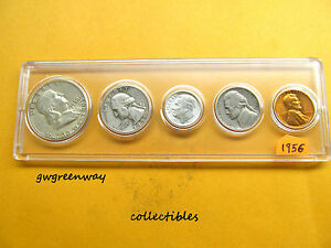 1956 Silver Birth year set 5 coins  (other years also) FREE SHIPPING