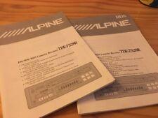 Alpine TDE-7528R autoradio cassette notice utilisation mode d' emploi