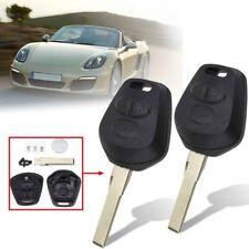 2x 3 Button Remote Key Fob Case Shell w/ Chip For Porsche 911 996 Boxster S 986