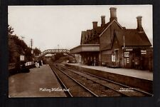 Malling Railway Station, near Maidstone - real photographic postcard