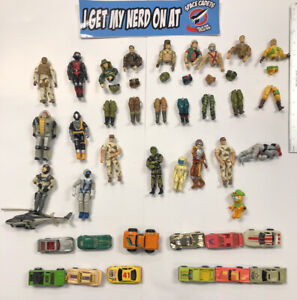 GI JOE and Hot Wheels lot with misc Diecast cars and figures
