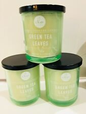 DW Home Candle 4 oz Green Tea Leaves - Lot of 3