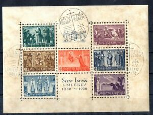 Old block of Hungary 1938 # BL 4 used ST. STEWEN
