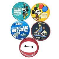 Disney Button Lot of 5 Finding Dory Baymax Mickey Birthday 2017 45th Anniversary