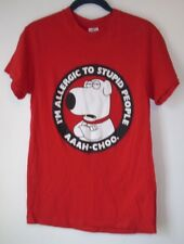 Men's T-Shirt,Family Guy,Size S,Red,Short Sleeve,Graphic Tee,Delta,Women