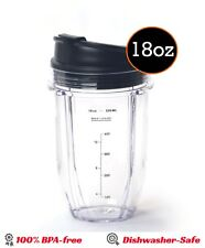 Nutri Ninja 18 Oz. Small Mixing Cup Sip & Seal Lid  Replacement Ninja Blender