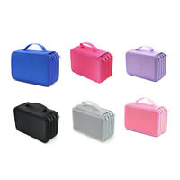 72 Holes 4 Layers Pencil Case For School Student Oxford Bag Marker Storage  V8V1
