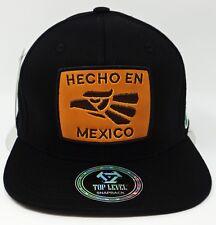 HECHO EN MEXICO Snapback Cap Hat Mexican Aguila Flag Adult OSFM Black NWT