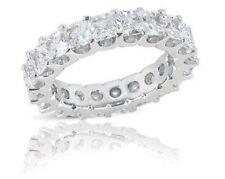 "4.52 carat Princess cut Diamond Eternity Ring ""U"" shape Band 14K Gold G-H Si1"