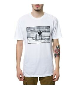 Emerica. Mens The Jerry Sitting Graphic T-Shirt, White, Large