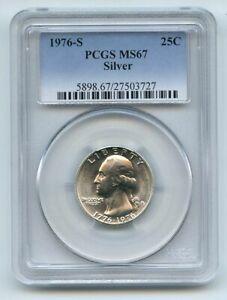 1976 S 25C Silver Washington Quarter PCGS MS67