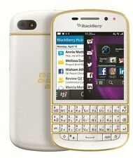 "Seller Refurbished Blackberry Q10 SE 16GB 2GB 3.1"" 8MP 2MP White Gold Color"