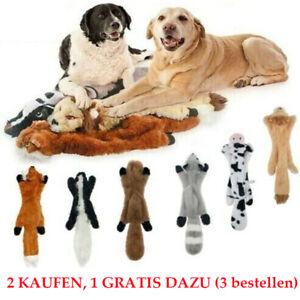 Hunde Plüsch Kauspielzeug Welpen Hundespielzeug Füllung Quietschend Spielzeuge