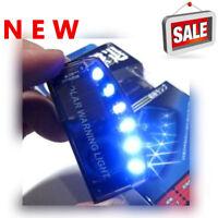 Car Auto Sensitive Alarm 6 Blue LED Solar Power Warning Flashing Light Security
