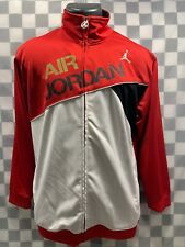 Air JORDAN Red White Black Gold Women's Track Warm Up Jacket Size XL
