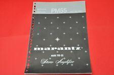 Original Service Manual Marantz PM-55 Stereo Amplifier (English Language)!