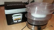 Cookworks Signature Vegetable Food 3 Bowl Electric Steamer
