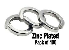 """Spring Lock Coil Washers. Zinc plated. M8. 5/16"""" Pack of 100.."""