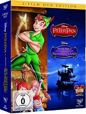 PETER PAN + PETER PAN 2, Neue Abenteuer in Nimmerland (Walt Disney) 2 DVDs NEU