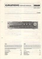 Grundig Service Anleitung Manual V 8100  B918