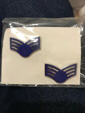 SENIOR AIRMAN E-4 RANK HAT LAPEL PIN UP US AIR FORCE INSIGNIA ENLISTED VETERAN
