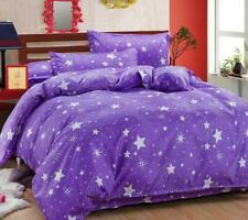 Star Print Blue/Purple Bedding Set Duvet Cover+Sheet+Pillow Cases Bedding VICT