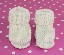 KNITTING INSTRUCTIONS-BABY SIMPLE EASY BAMBOO BOOTIES BOOTEES  KNITTING PATTERN