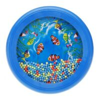 Ocean Wave Bead Drum Gentle Sea Sound Musical Educational Toy Tool for Baby T8I1
