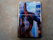 SPIDERMAN STAR BRAND OIL FLIP LIGHTER cartoon spider man SUPER HERO WEB MOVIE