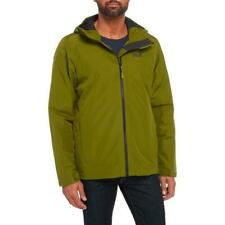 Jack Wolfskin Men's L Chilly Morning Jacket Cypress Green Water Wind Proof NEW
