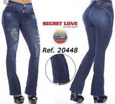 Secret Love 20448 Women's Destroyed Butt Lifting Levanta Cola Bootcut Jeans Sz 5