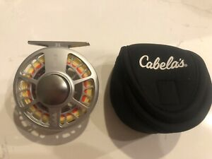 Cabelas RLS II 3/4 Fly Reel With New SA Air Cel WF4F Fly Line And Case