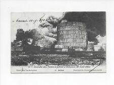HOBOKEN-INCENDIE DES TANKS à PETROLE JAAR 1904