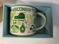 Starbucks Wisconsin Been There Coffee Mug Cup 14 Oz Collection 2019 sold out!!