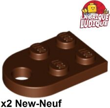 Lego - 2x Plate Modified 3x2 with Hole marron/reddish brown 3176 NEUF